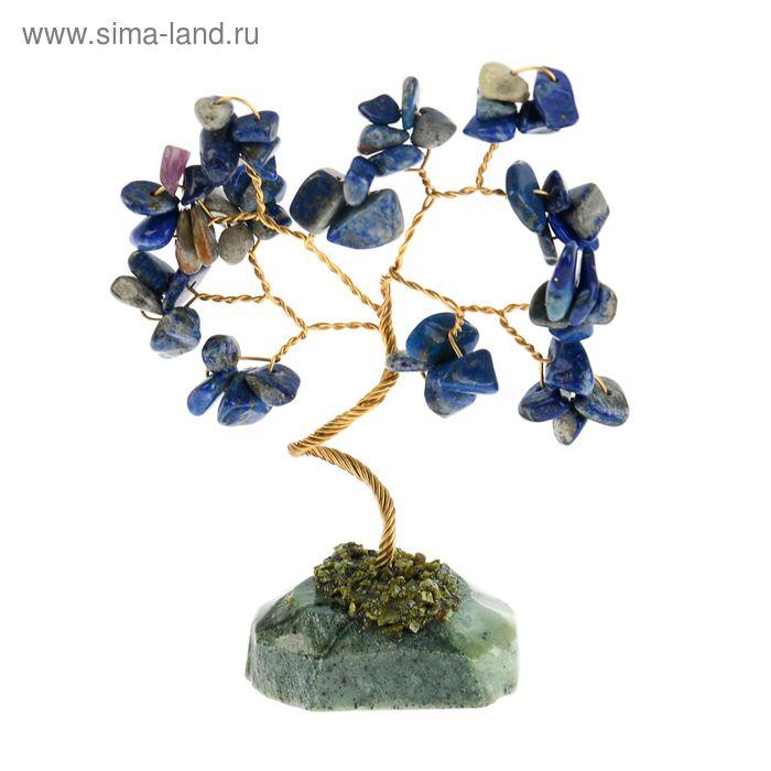 Дерево счастья из камня Лазурит 12 лист