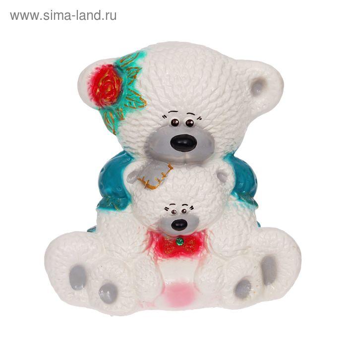 """Копилка """"Медведица с медвежонком"""" глянец, белая"""