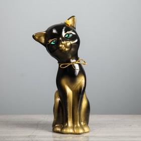 "Копилка ""Кошка Алиса"" малая, чёрная, глянец"