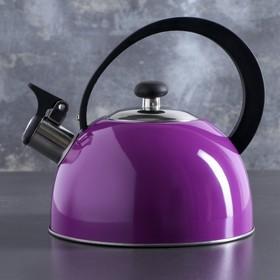 """Чайник со свистком """"Радуга"""", макс. объем 2,1 л, цвет сиреневый"""