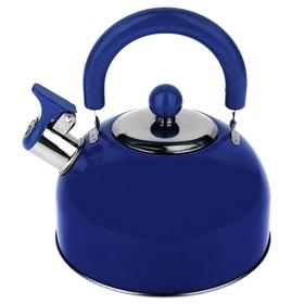 """Чайник со свистком """"Радуга"""", макс. объем 2,1 л, цвет голубой"""