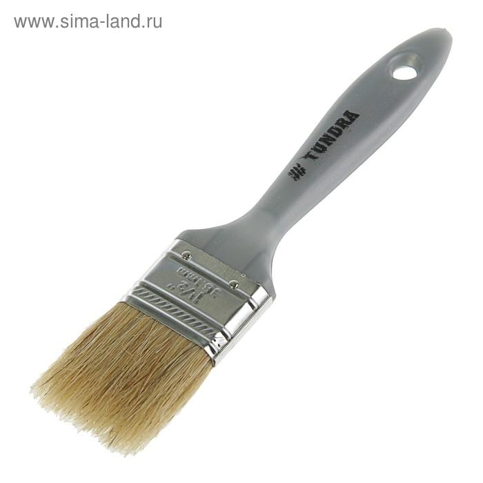 """Кисть плоская TUNDRA premium, натуральная щетина, пластмассовая ручка 1,5"""" (38 мм)"""