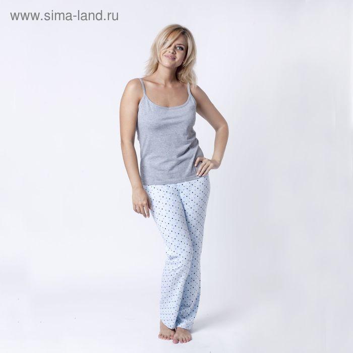 """Брюки женские  """"Collorista""""  р-р S(44), голубой набивка, хлопок 100%"""