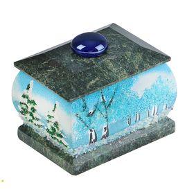 Шкатулка 'Зима', каменная крошка Ош