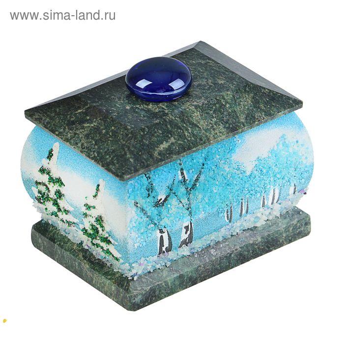 """Шкатулка """"Зима"""", каменная крошка"""