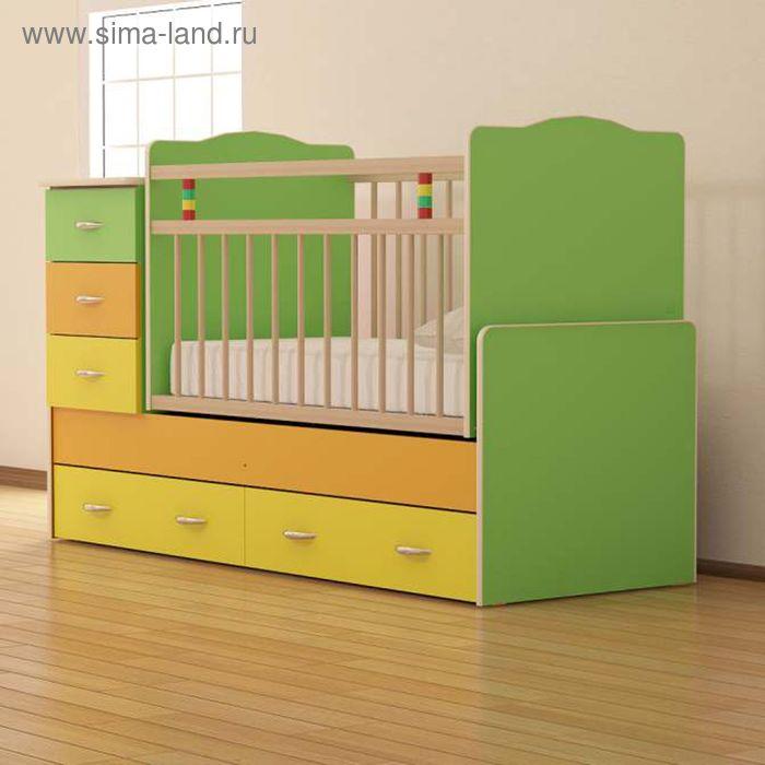 Детская кровать-трансформер «Колибри-1», цветная