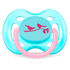 Пустышка силиконовая ортодонтическая Freeflow, от 0 до 6 мес., для девочек