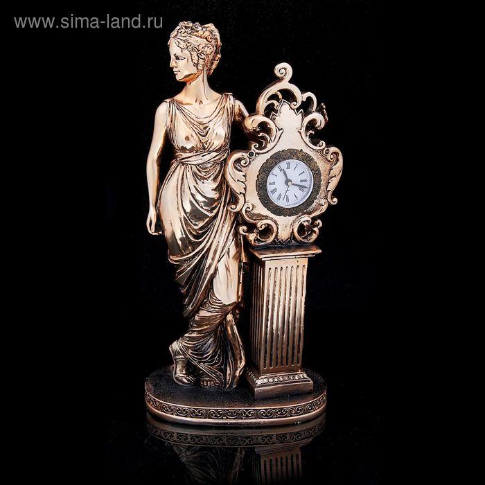 """Сувенир-часы """"Римлянка"""" под бронзу"""