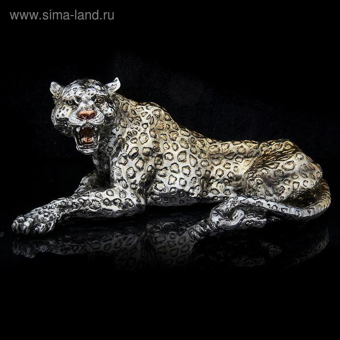 """Сувенир """"Леопард"""" золото-серебро"""