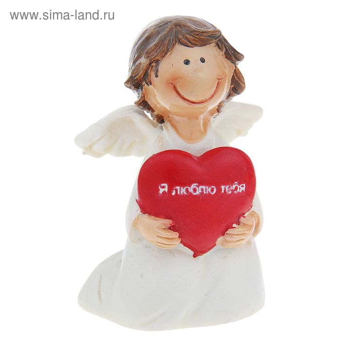 """Сувенир """"Ангелок с надписью """"Я люблю тебя"""""""" МИКС"""