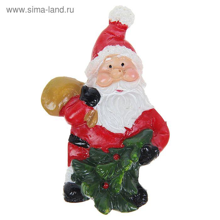 "Магнит полистоун ""Дед Мороз с подарками"" МИКС"