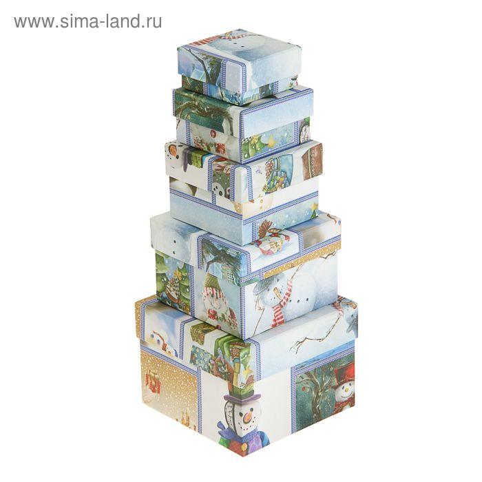 """Набор коробок 5 в 1 """"Снеговики"""""""