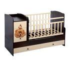 Детская кровать-трансформер «Мишки», цвет венге/ваниль