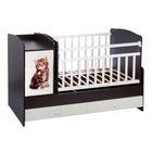 Детская кровать-трансформер «Котёнок», цвет венге/белый