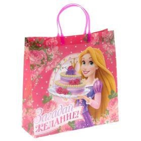 """Пакет подарочный пластик """"Загадай желание"""", Принцессы, 30 х 30 см"""