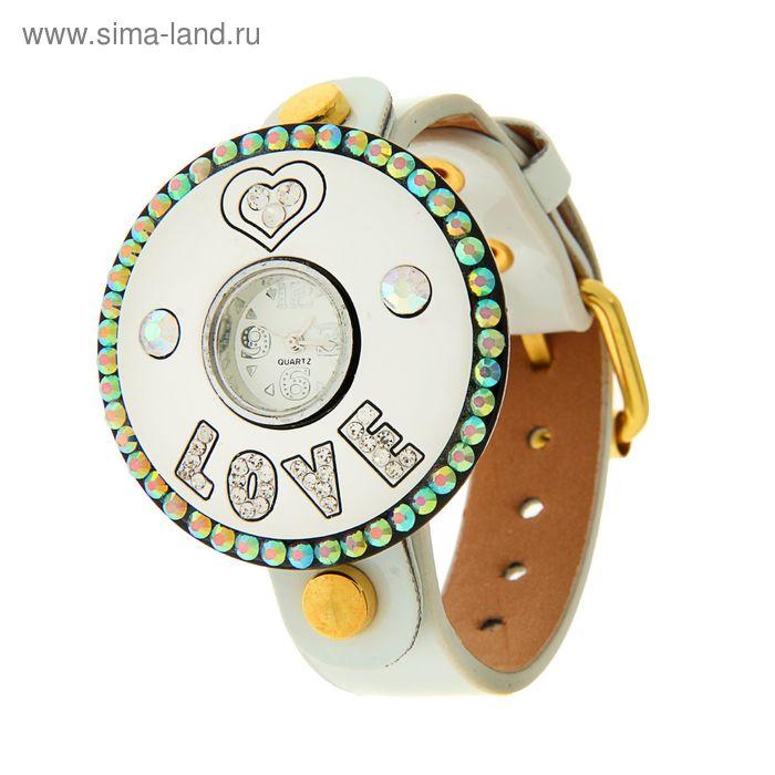 Часы женские наручные, белый ремешок, белый циферблат