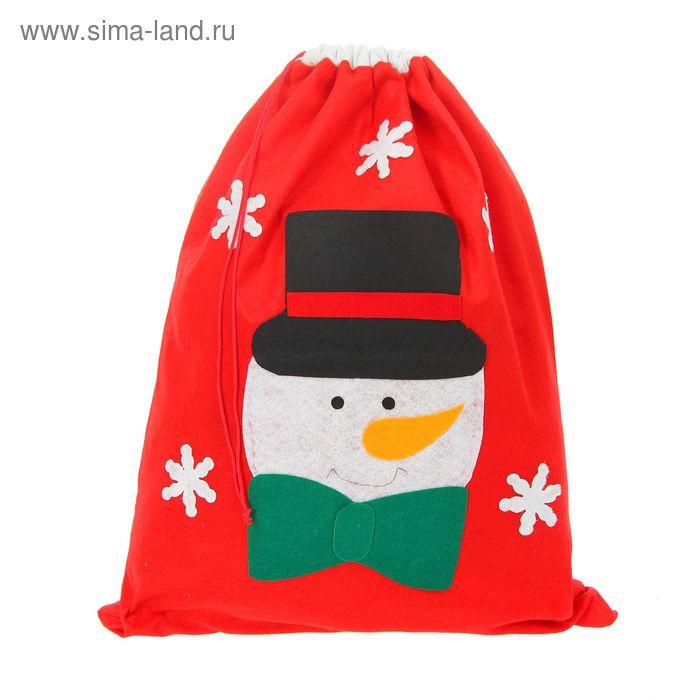 """Новогодний мешок """"Снеговик"""""""