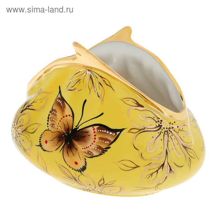 "Сувенир из фарфора ""Кошелек""р.""Бабочки""(большой)"