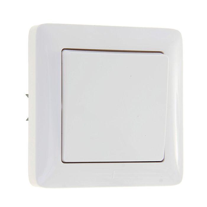 """Выключатель """"Хит"""" SchE VS16-133-B, 6 А, 1 клавиша, скрытый, цвет белый"""