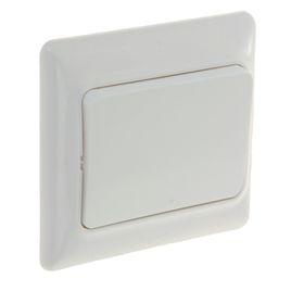 Выключатель одноклавишный в сборе, белый