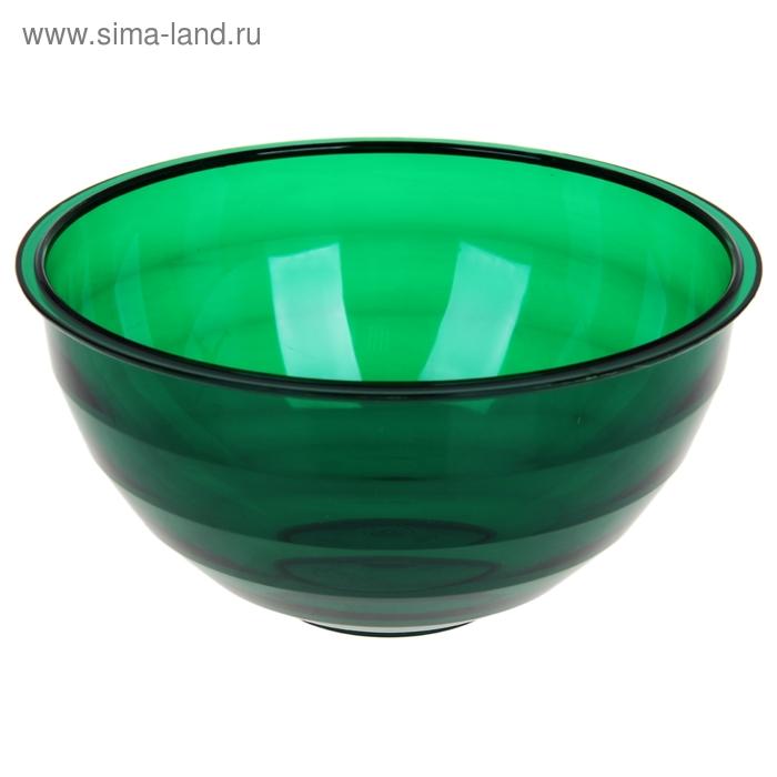 """Салатник 1,8 л """"Венеция"""", цвет зеленый полупрозрачный"""