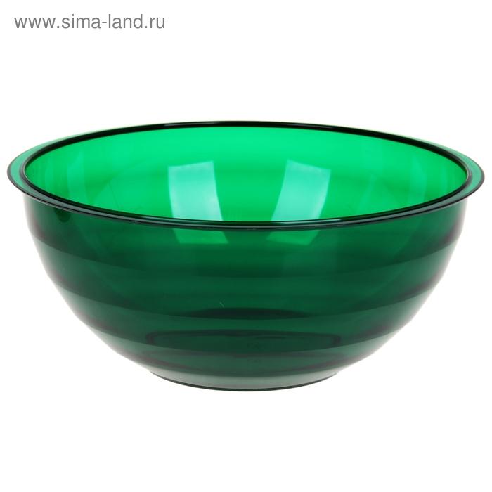 """Салатник 3 л """"Венеция"""", цвет зеленый полупрозрачный"""