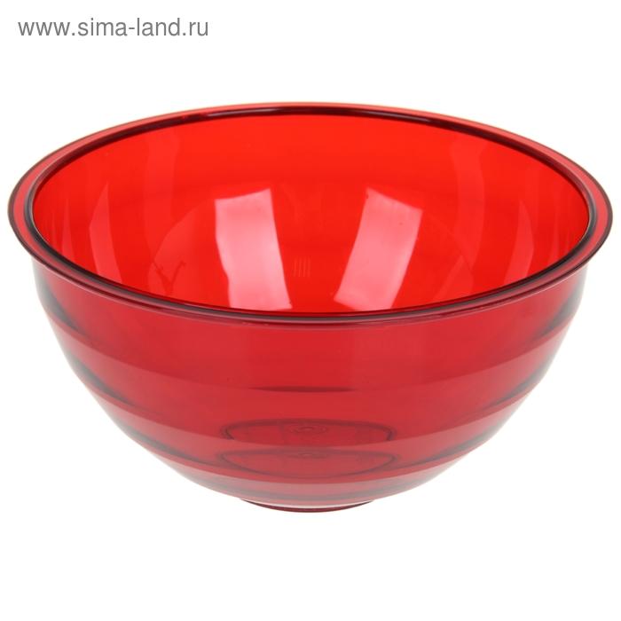 """Салатник 1,8 л """"Венеция"""", цвет красный полупрозрачный"""