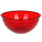 """Салатник 3 л """"Венеция"""", цвет красный полупрозрачный"""