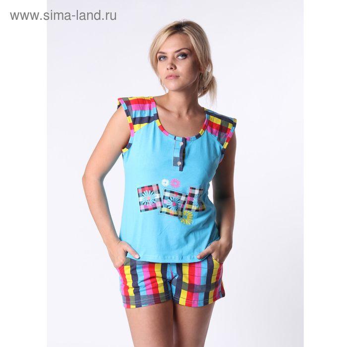 Пижама женская (майка, шорты) ТК-848К МИКС, р-р 46