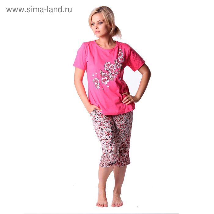 Комплект женский (футболка, бриджи) ТК-12Б МИКС, р-р 50