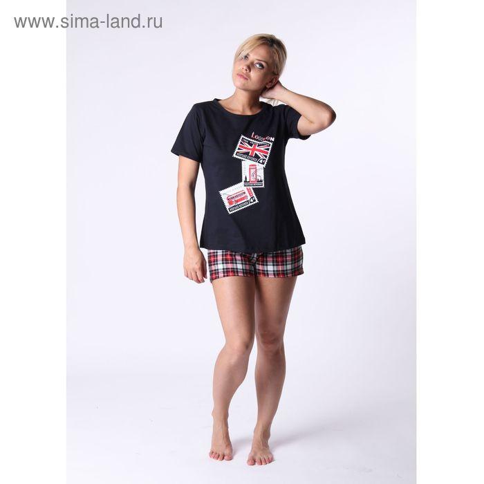Комплект женский (футболка, шорты) ТК-77А, цвет микс, размер 44