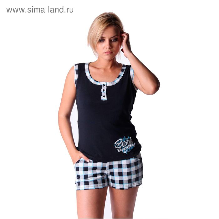 Пижама женская (майка, шорты) ТК-524, цвет микс, размер 48
