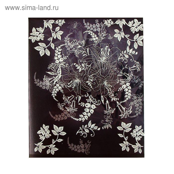 Тетрадь 48 листов клетка Lily, картонная обложка, металлик, МИКС