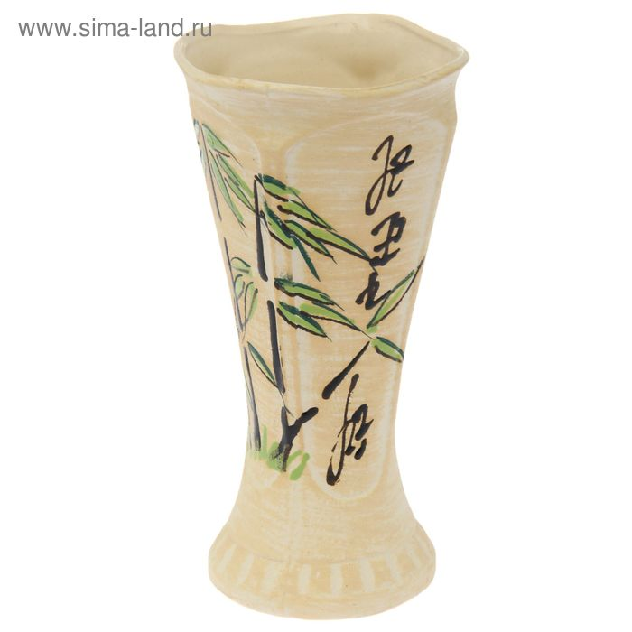 "Ваза ""Модерн"" малая, бамбук, шамот"