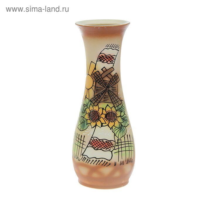 """Ваза напольная """"Осень"""" мельница"""