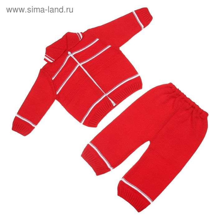Костюм детский (кофта+рейтузы), рост 68-74 см (22), цвет красный 0118