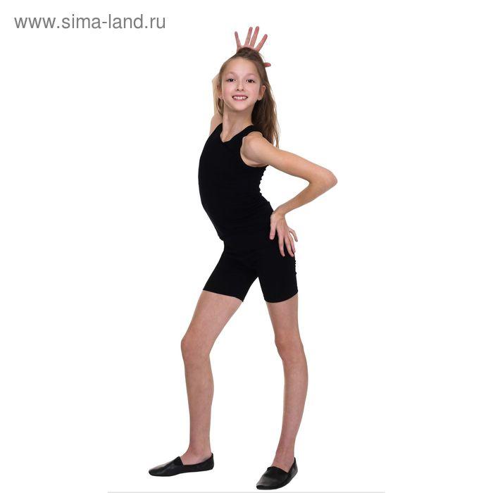 Майка гимнастическая, размер 40, цвет чёрный