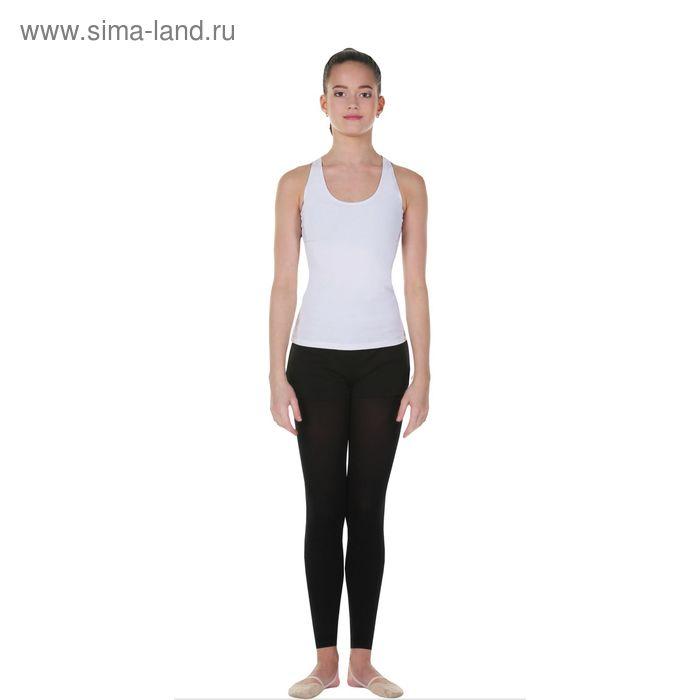 Майка-борцовка гимнастическая, размер 28, цвет белый