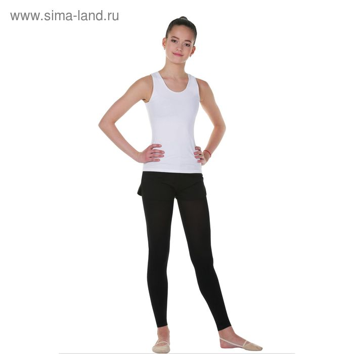 Майка гимнастическая, размер 34, цвет белый