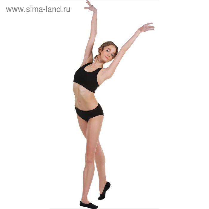 Топ-лиф гимнастический, размер 36, цвет чёрный