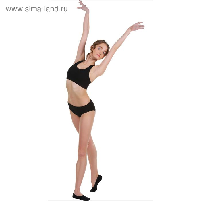 Топ-лиф гимнастический, размер 34, цвет чёрный