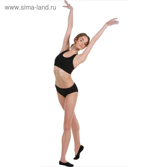 Топ-лиф гимнастический, размер 38, цвет чёрный