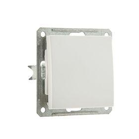 """Выключатель """"W59"""" SchE VS116-154-1-86, 16 А, 1 клавиша, скрытый, цвет белый"""