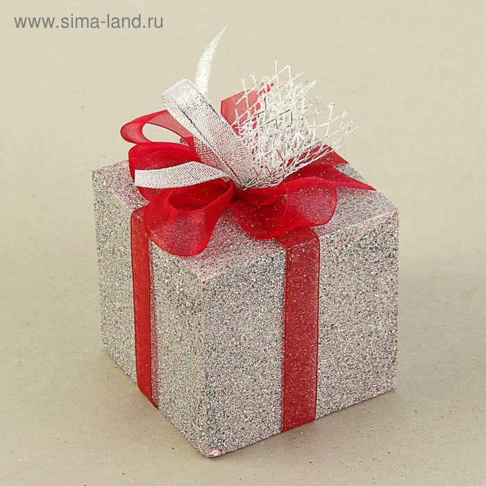 """Муляж """"Подарок"""", серебрянный блеск, 8 см"""
