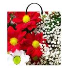 """Пакет """"Полевые цветы"""", полиэтиленовый с пластиковой ручкой, 36 х 37 см, 100 мкм"""