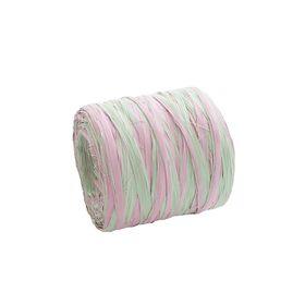 Рафия двухцветная, мятно-розовый, 200 м