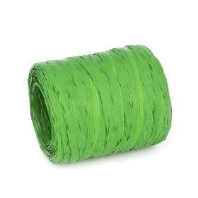 Рафия однотонная, зеленая, 200 м
