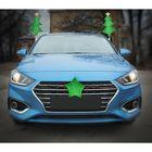 """Новогоднее украшение на автомобиль """"Елочка"""", цвет зеленый"""