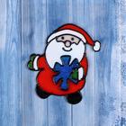 "Наклейка на стекло ""Дед Мороз со снежинкой"""