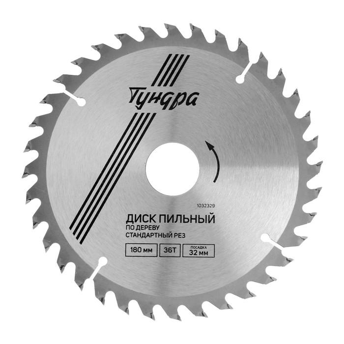 Диск пильный по дереву TUNDRA, 180 х 32 х 40 зубьев + кольцо 20/32 и 16/32